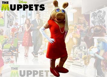 Muppets Peggy personajes en cumpleaños Medellin