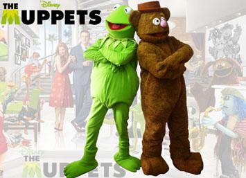 Personajes Muppets Rene y Fozzi en medelin